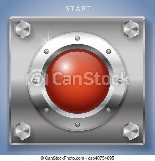 Red start button ignition - csp40754695