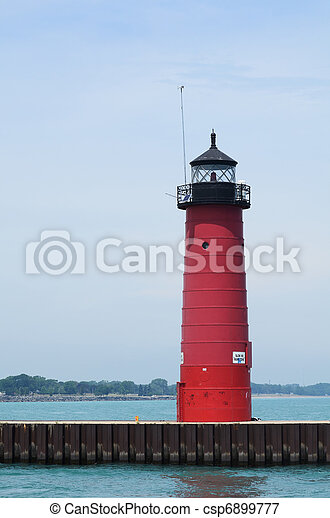 Red Steel Lighthouse - csp6899777