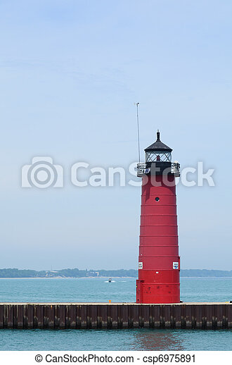 Red Steel Lighthouse - csp6975891