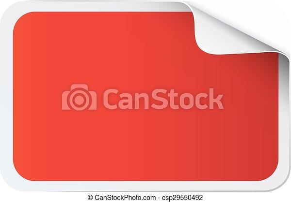 Red sticker on white - csp29550492