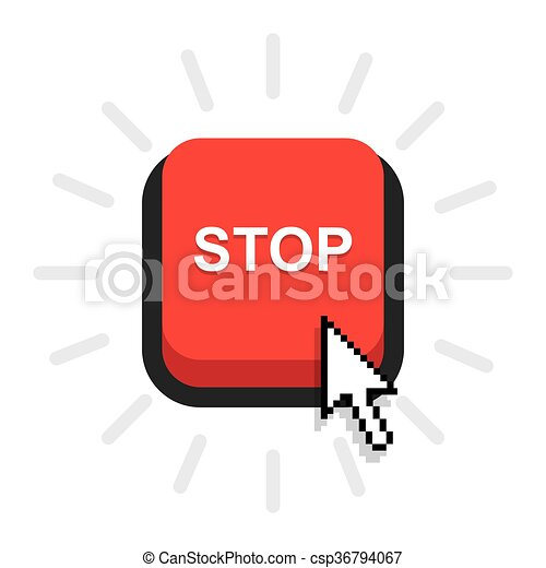 red stop button - csp36794067