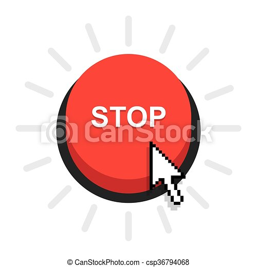 red stop button - csp36794068