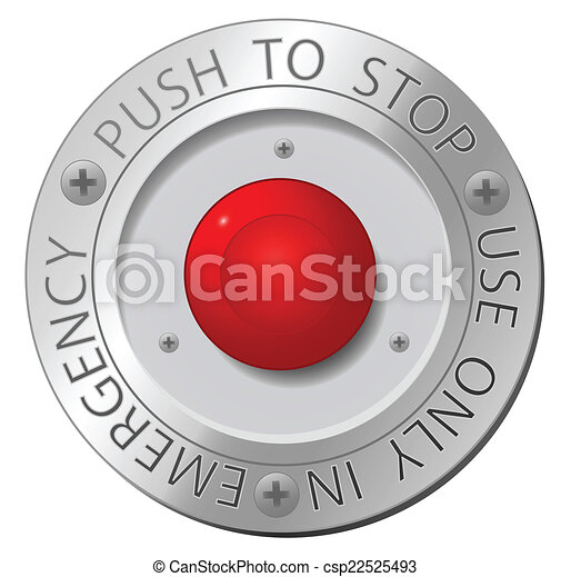 Red stop button, vector sign - csp22525493