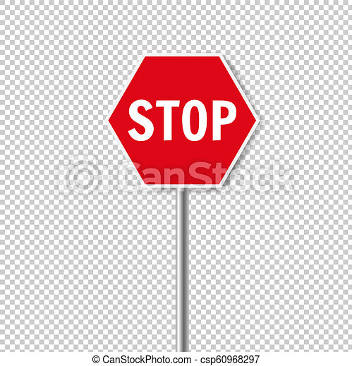Red Stop Sign Isolated Transparent Background