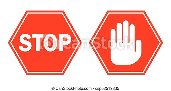 red stop signs vector illustration stop signs in flat vectors rh canstockphoto ca stop sign vector graphic stop sign graphics morrisville nc