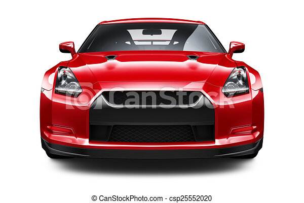 Red Stylish Sport Car   Csp25552020