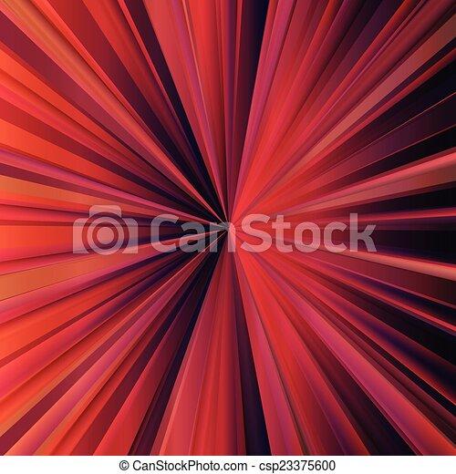 Red sunburst vector background with dark edges - csp23375600