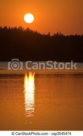 red sunset - csp3545474