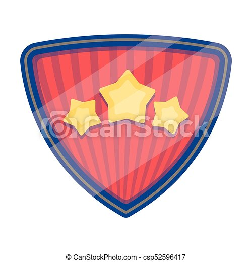 Red superhero emblem with stars  Logo icon superhero Superhero single icon  in cartoon style bitmap,raster symbol stock illustration