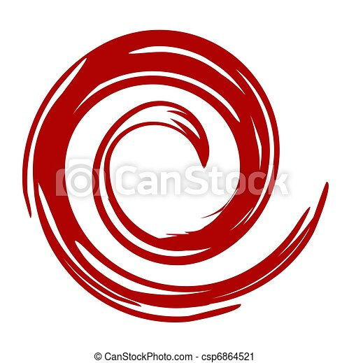 red swirl an illustration of red swirl on white background