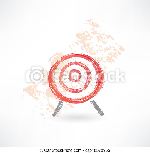 red target grunge icon. - csp18578955