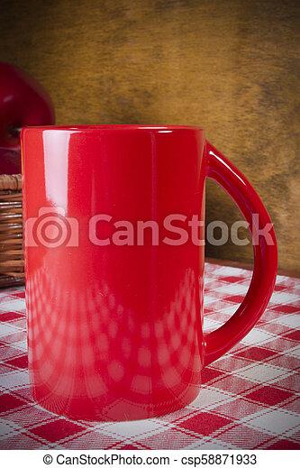 Red tea cup - csp58871933