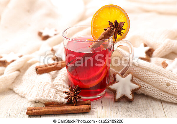 red tea for christmas - csp52489226