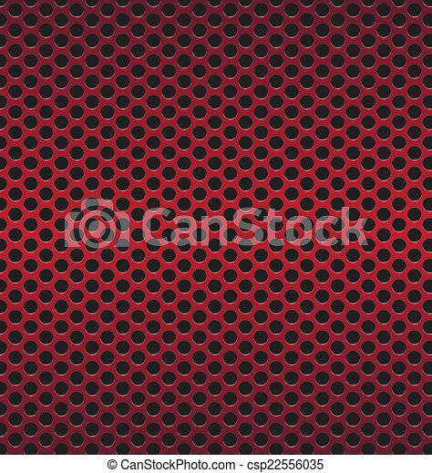 red Technology background with black circle perforated carbon sp - csp22556035