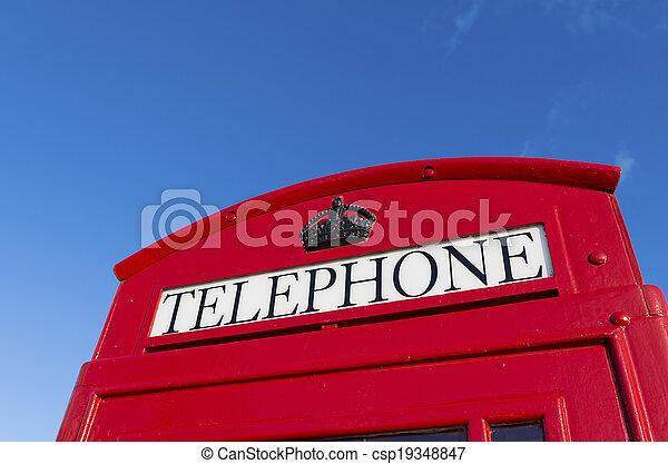 red telephone box - csp19348847