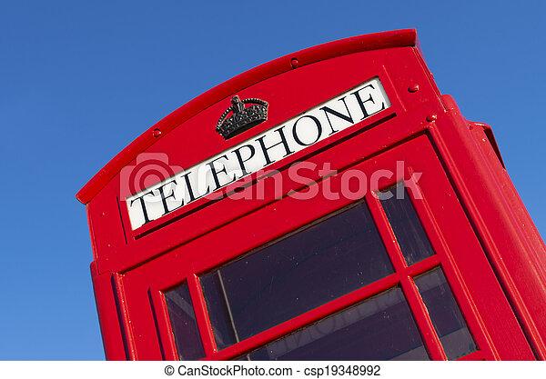 red telephone box - csp19348992