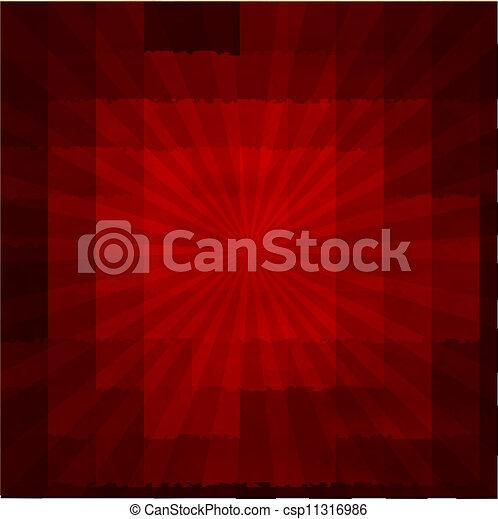 Red Texture Background With Sunburst - csp11316986