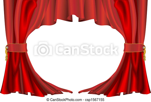 Red theatre style curtains - csp1567155