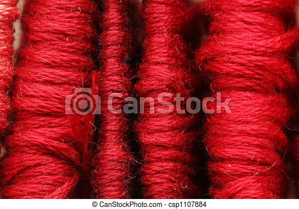 red thread background - csp1107884