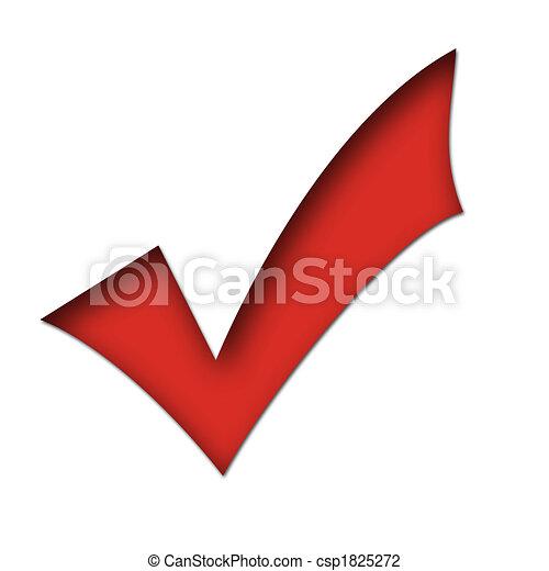 red tick mark - csp1825272