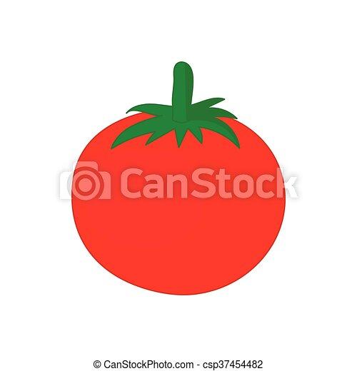 Red tomato icon, cartoon style - csp37454482