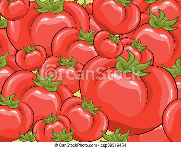 Red tomatoes background - csp39319454