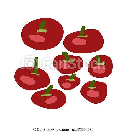 Red tomatoes illustration - csp72504230
