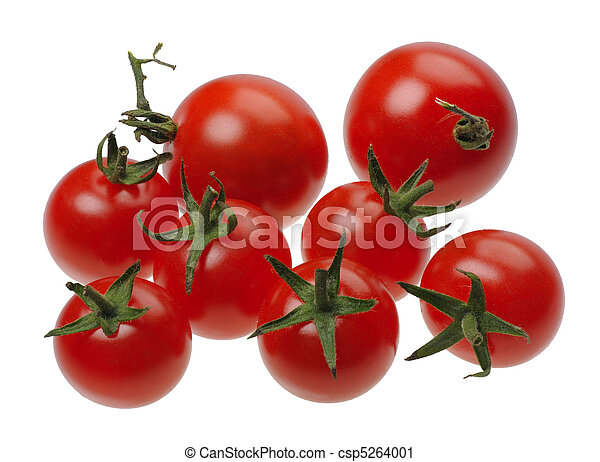 Red tomatoes, isolated - csp5264001