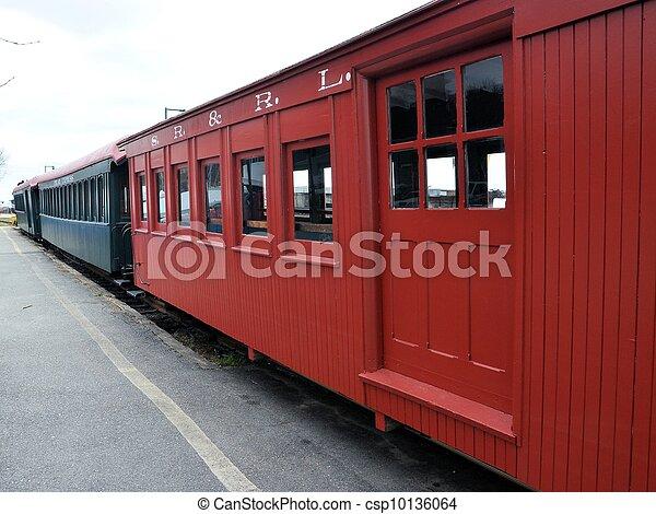 Red train - csp10136064