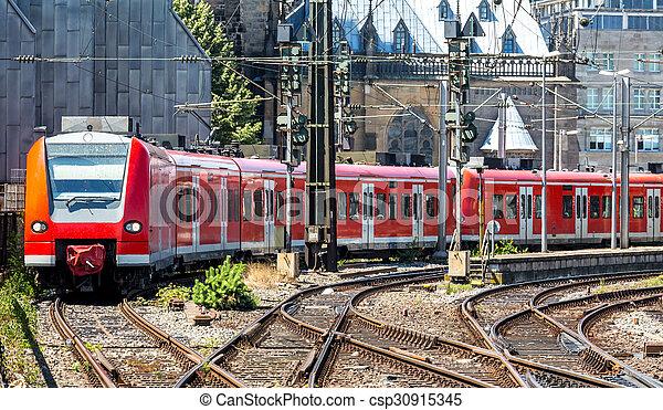 Red train  - csp30915345