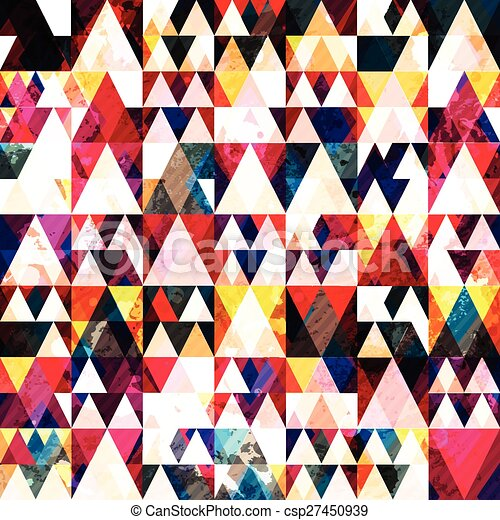 red triangle seamless pattern - csp27450939