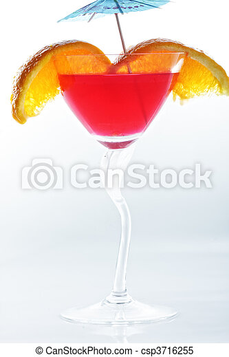 Red tropical cocktail - csp3716255