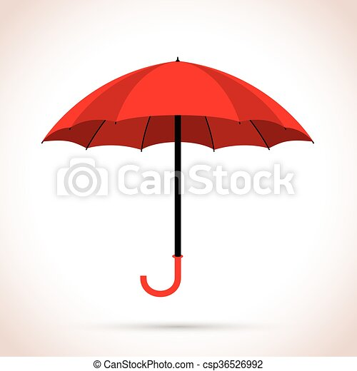 red umbrella - csp36526992