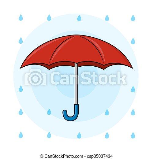 Red Umbrella - csp35037434