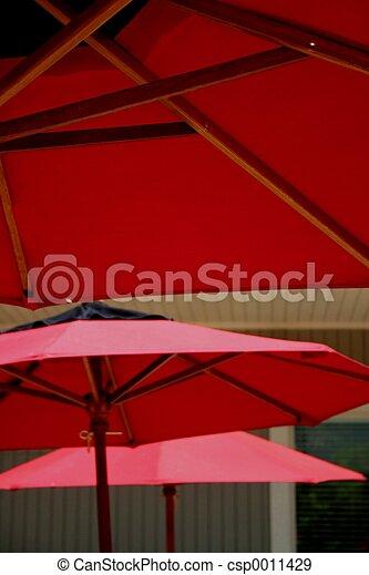 Red Umbrellas - csp0011429