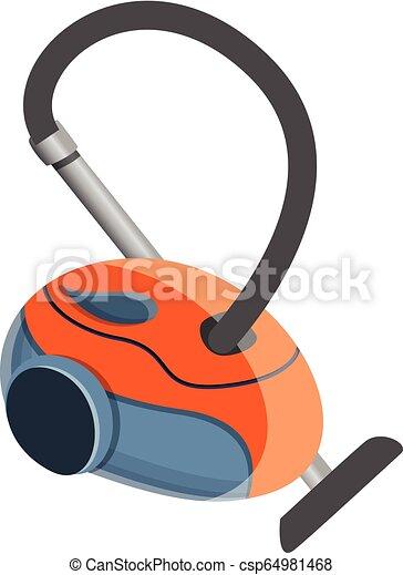 Red vacuum cleaner icon, cartoon style - csp64981468