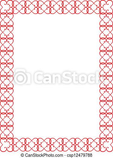 red Valentines Day border - csp12479788