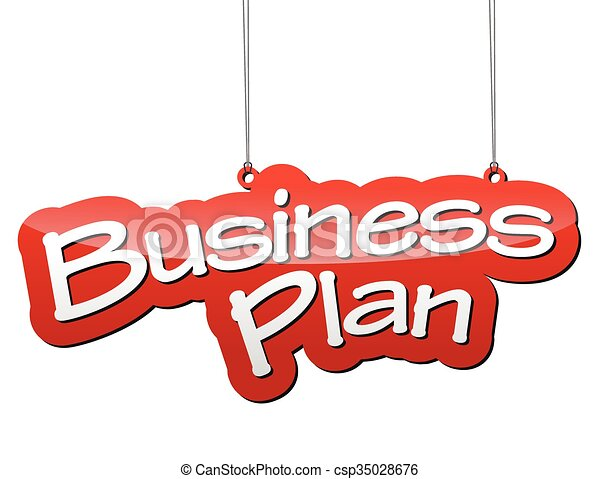 red vector background business plan - csp35028676