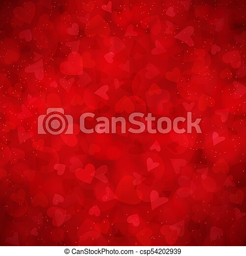 Red vector background for Valentines day - csp54202939