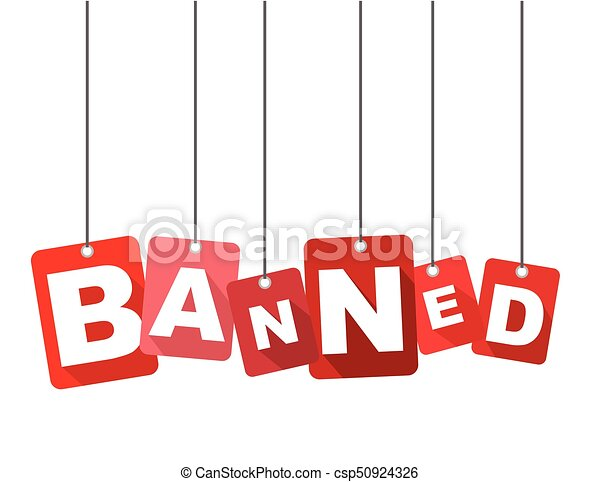 Red Vector Flat Design Background Banned It Is Well Adapted For Web