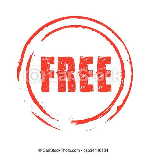 Red vector grunge stamp FREE - csp34448184