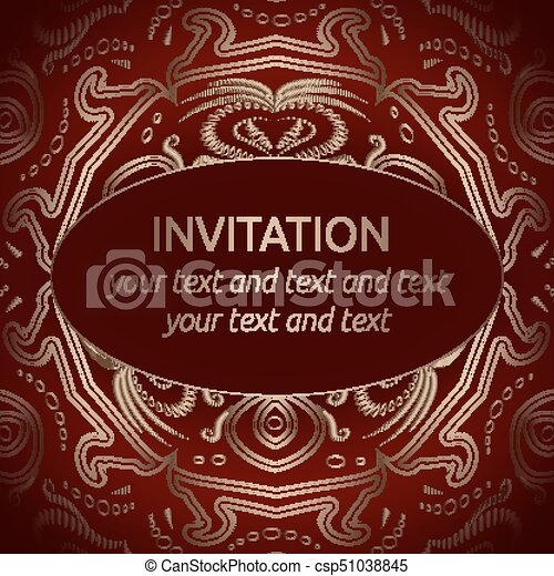 Red vector invitation template with gold ornament vector eps red vector invitation template with gold ornament stopboris Images