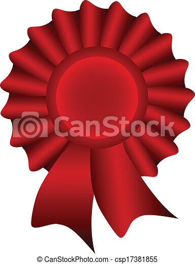 Red Vector Label - csp17381855