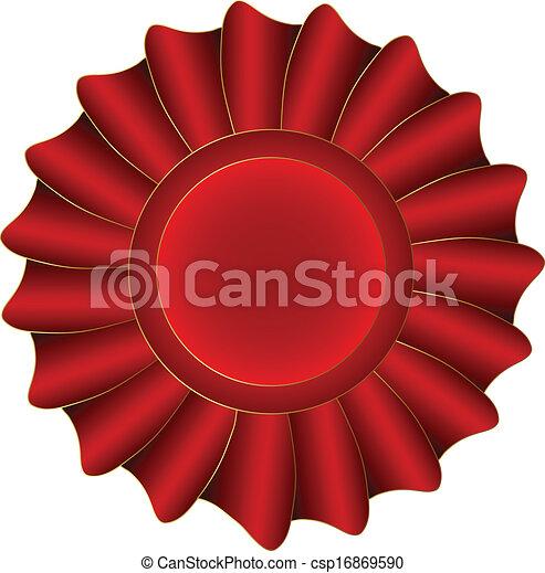 Red Vector Label - csp16869590