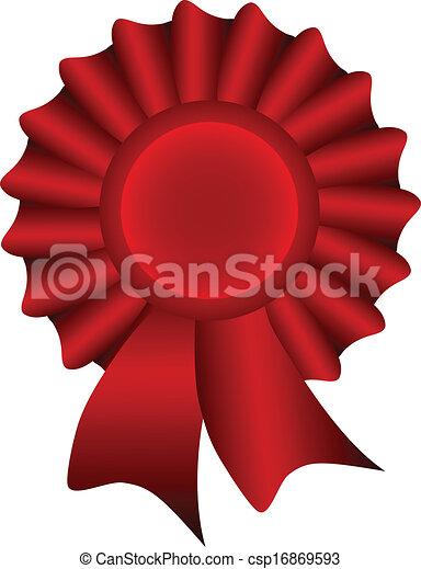 Red Vector Label - csp16869593