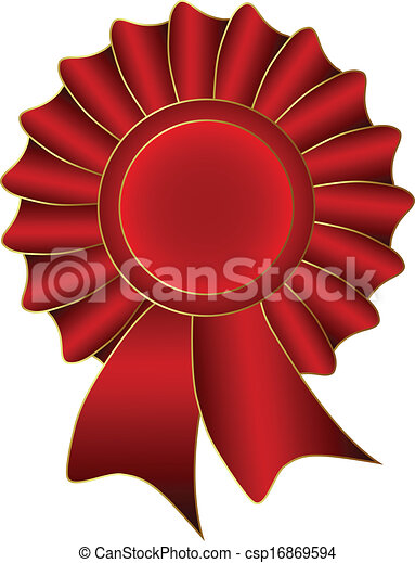 Red Vector Label - csp16869594