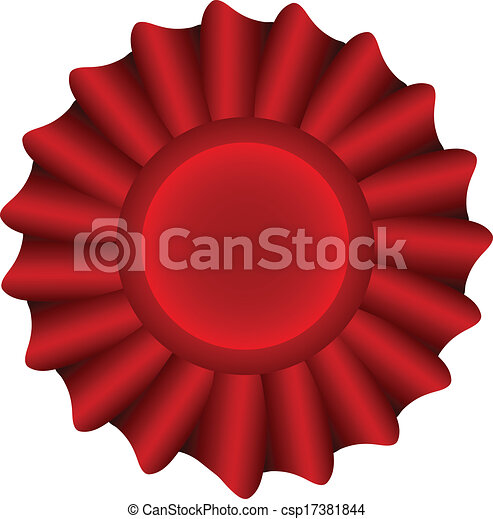 Red Vector Label - csp17381844