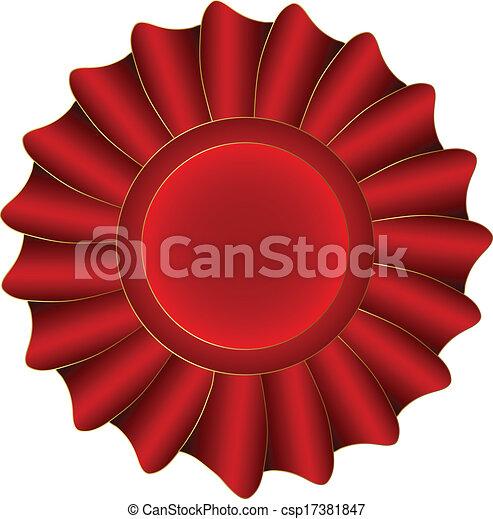 Red Vector Label - csp17381847