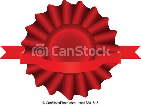 Red Vector Label - csp17381848