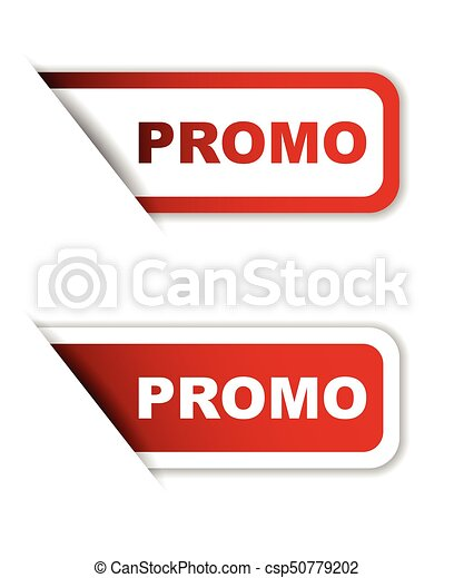 red vector promo sticker promo banner promo